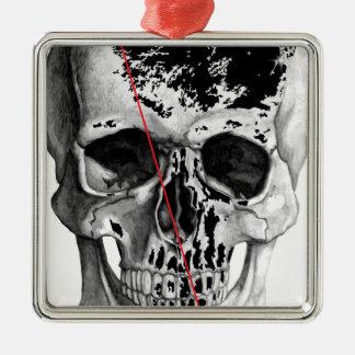 Wellcoda Skull Triangle Death Horror Face Metal Ornament
