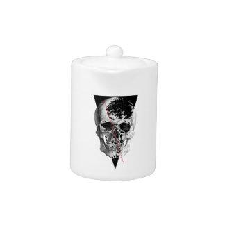 Wellcoda Skull Triangle Death Horror Face Teapot