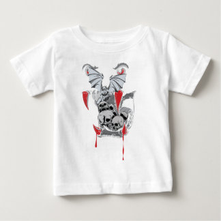 Wellcoda Skull Vampire Scary Evil Monster Baby T-Shirt