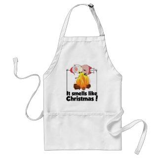 Wellcoda Smells Like Christmas Santa Burn Adult Apron