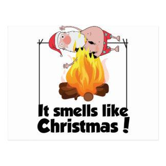 Wellcoda Smells Like Christmas Santa Burn Postcard