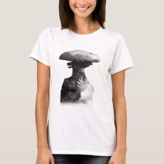 Wellcoda Smoking Human Head Mushroom Face T-Shirt