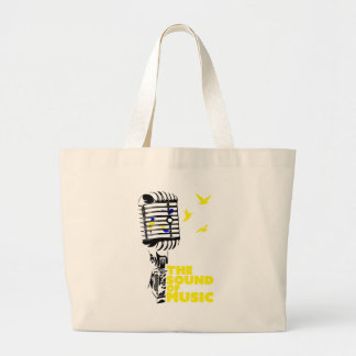 Wellcoda Sound Of Music Sing Microphone Large Tote Bag