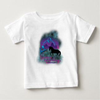 Wellcoda Space Galaxy Cowboy 80's Horse Baby T-Shirt