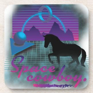 Wellcoda Space Galaxy Cowboy 80's Horse Beverage Coaster