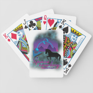Wellcoda Space Galaxy Cowboy 80's Horse Bicycle Playing Cards