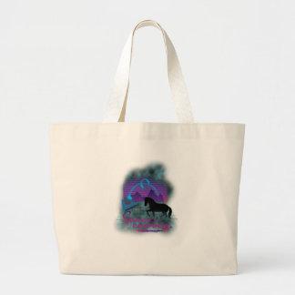 Wellcoda Space Galaxy Cowboy 80's Horse Large Tote Bag