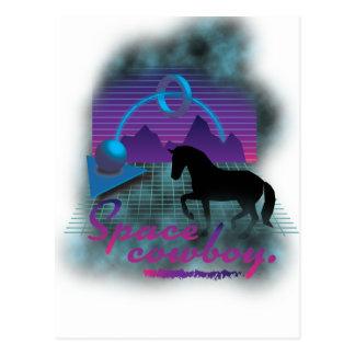 Wellcoda Space Galaxy Cowboy 80's Horse Postcard