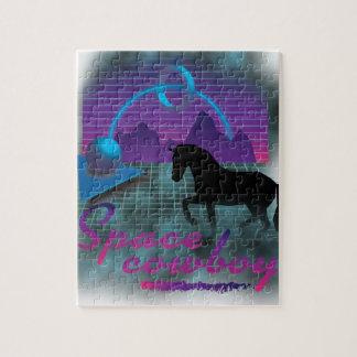 Wellcoda Space Galaxy Cowboy 80's Horse Puzzle