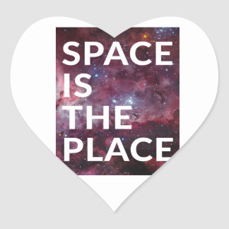 Wellcoda Space Is The Place Fun Big Planet Heart Sticker