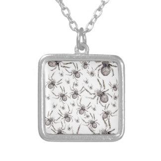 Wellcoda Spider Spooky Fear Tarantula Silver Plated Necklace