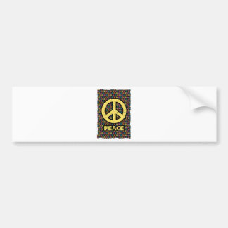 Wellcoda Spread Peace Not War Harmony Fun Bumper Sticker