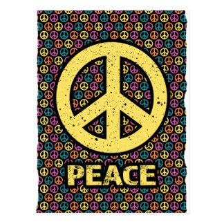 Wellcoda Spread Peace Not War Harmony Fun Postcard