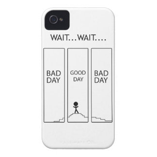 Wellcoda Stairway Stick Man Good Bad Day iPhone 4 Cover