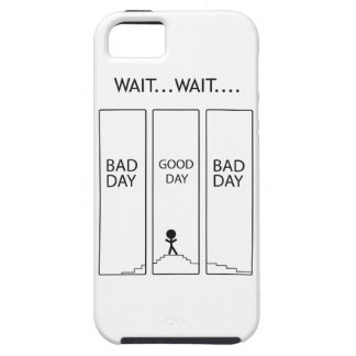 Wellcoda Stairway Stick Man Good Bad Day iPhone SE/5/5s Case