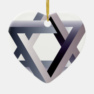 Wellcoda Star Of David Symbol Judaism Sign Ceramic Ornament