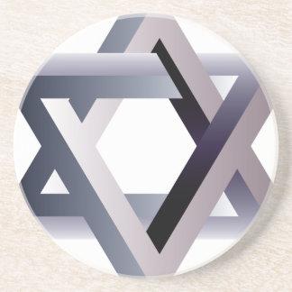 Wellcoda Star Of David Symbol Judaism Sign Coaster