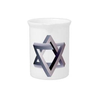 Wellcoda Star Of David Symbol Judaism Sign Drink Pitchers