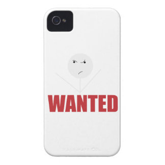 Wellcoda Stick Man Bad Mood Wanted Grumpy iPhone 4 Cover