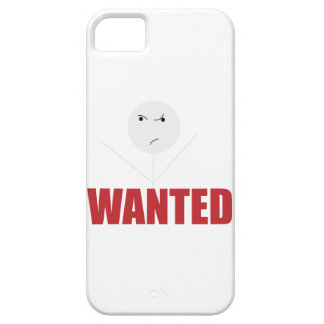 Wellcoda Stick Man Bad Mood Wanted Grumpy iPhone SE/5/5s Case