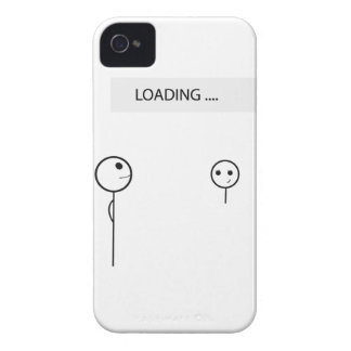 Wellcoda Stick Man Fun Loading Friendship iPhone 4 Case-Mate Case