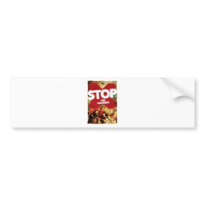 Wellcoda Stop the Madness War Troops Life Bumper Sticker