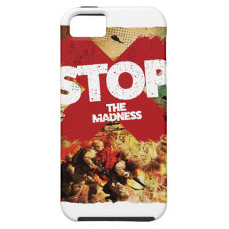 Wellcoda Stop the Madness War Troops Life iPhone SE/5/5s Case