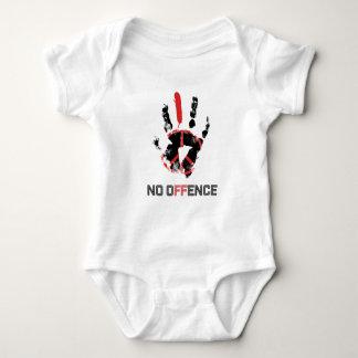 Wellcoda Stop War No Offence World Peace Baby Bodysuit
