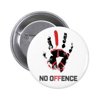 Wellcoda Stop War No Offence World Peace Button