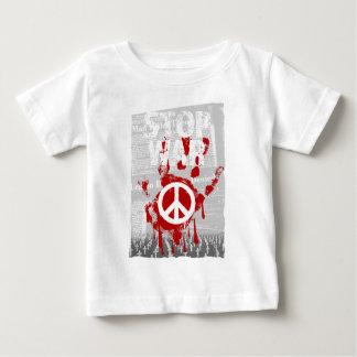 Wellcoda Stop War World Peace Soldier RAF Baby T-Shirt