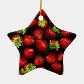 Wellcoda Strawberry Field Fruit Summer Fun Ceramic Ornament