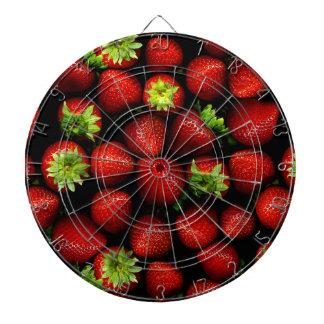 Wellcoda Strawberry Field Fruit Summer Fun Dart Board