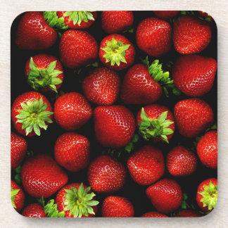 Wellcoda Strawberry Field Fruit Summer Fun Drink Coaster