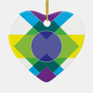 Wellcoda Summer Vibe Print Fun DJ Bright Ceramic Ornament