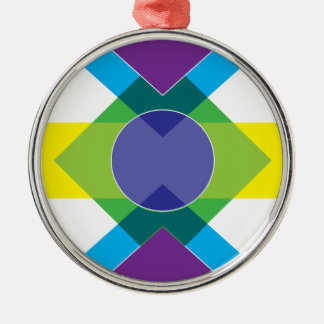 Wellcoda Summer Vibe Print Fun DJ Bright Metal Ornament