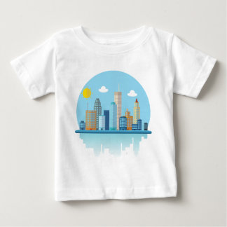 Wellcoda Sun City View Town Sydney Coast Baby T-Shirt