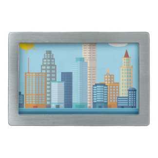 Wellcoda Sun City View Town Sydney Coast Rectangular Belt Buckle
