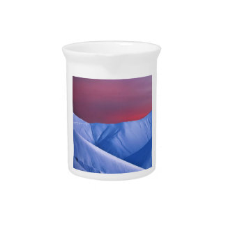 Wellcoda Sun Set Snow Mountain Ice Glacier Drink Pitcher