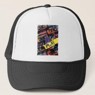 Wellcoda Tape Cassette Play Music Lover Trucker Hat