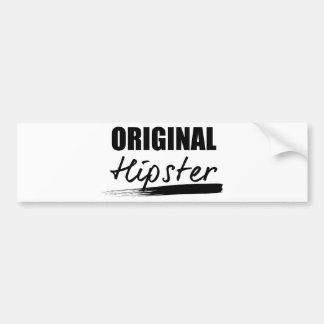 Wellcoda The Original Hipster Trend Set Bumper Sticker