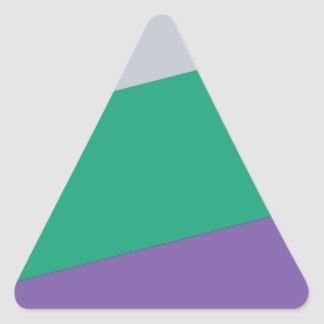 Wellcoda Three Tier Colours Holiday Fun Triangle Sticker