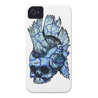 Wellcoda Thug Skull Headphone Music Punk iPhone 4 Case-Mate Case