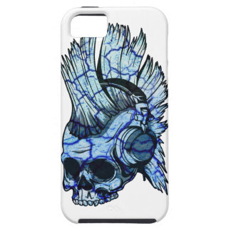 Wellcoda Thug Skull Headphone Music Punk iPhone SE/5/5s Case