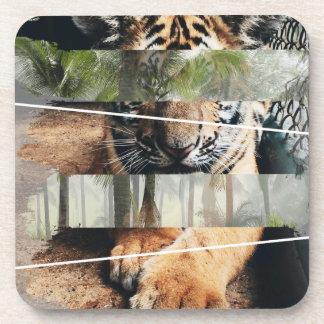 Wellcoda Tiger Lion Jungle Forest Animal Drink Coaster