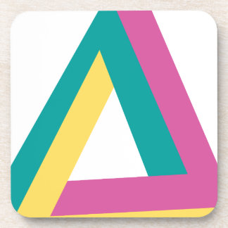 Wellcoda Triangle Drive Shape Summer Fun Beverage Coaster