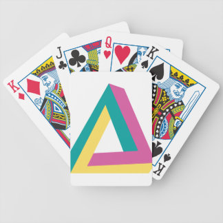 Wellcoda Triangle Drive Shape Summer Fun Bicycle Playing Cards