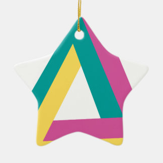 Wellcoda Triangle Drive Shape Summer Fun Ceramic Ornament