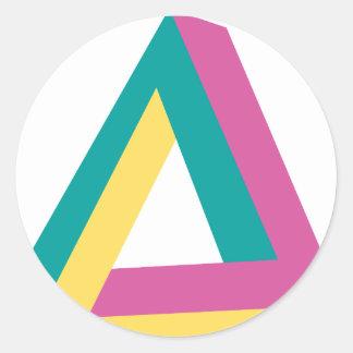 Wellcoda Triangle Drive Shape Summer Fun Classic Round Sticker