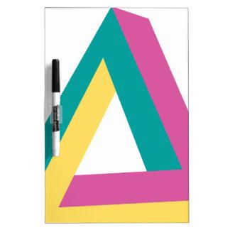 Wellcoda Triangle Drive Shape Summer Fun Dry-Erase Board