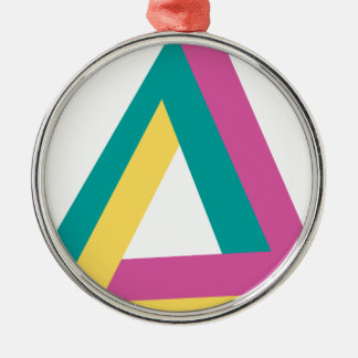 Wellcoda Triangle Drive Shape Summer Fun Metal Ornament